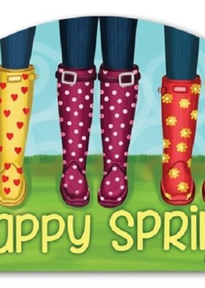 Happy Spring Yard Sign | Decorative Yard Signs | Garden House Flags