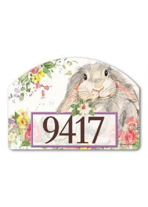 Hello Bunny Yard Sign | Address Plaques | Garden Decor | Yard Signs