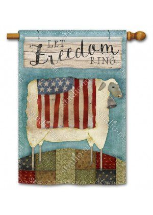 Freedom Sheep House Flag | Patriotic Flags | 4th of July Flags | Yard Flag