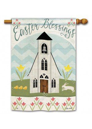 Easter Service House Flag | Easter Flags | Yard Flags | Cool Flags | Flags
