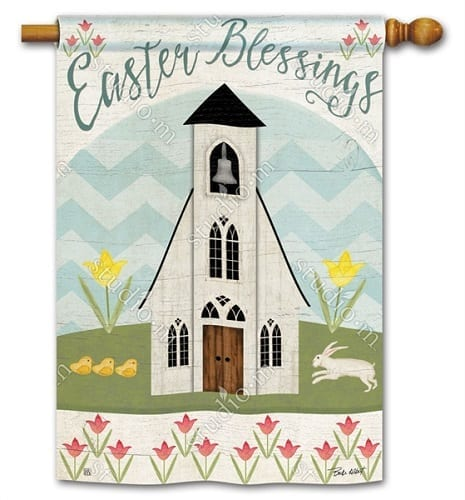 Easter Service House Flag