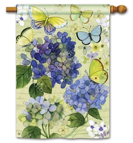 Hydrangea Beauties House Flag