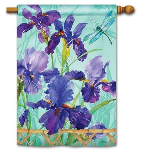 Purple Iris House Flag