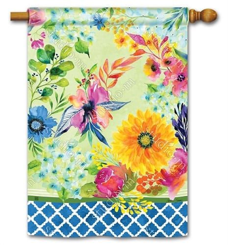 Fresh and Pretty Floral House Flag