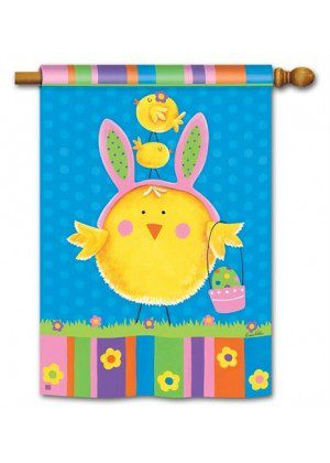 Easter Chicks House Flag | Easter Flags | Holiday Flags | Yard Flags | Flag