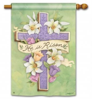 Easter Cross House Flag | Easter Flags | Holiday Flag | Inspirational Flags