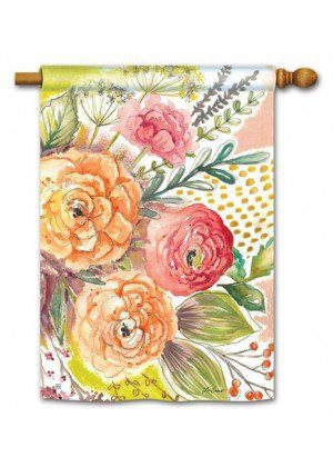 Fresh Flowers Flag | House Flags | Decorative Flags | Garden House Flags