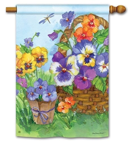 Pansy Lane Flag | House Flags | Decorative Flags | Garden House Flags