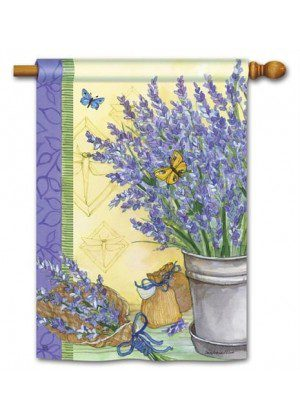 Lavender House Flag | Floral Flags | SpringFlag | Summer Flag | Yard Flag