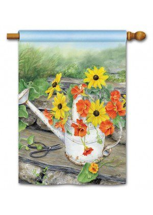 Sunshine and Water House Flag | Floral Flags | Spring Flags | Yard Flags