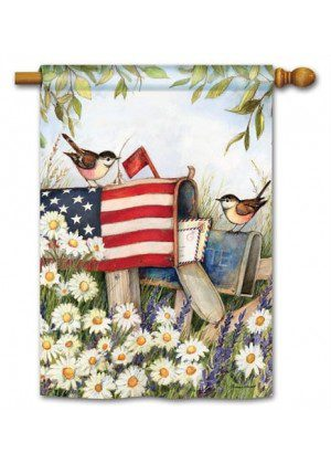 Patriotic Mailbox House Flag | Patriotic Flags | 4th of July Flags | Yard Flag