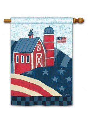 American Barn House Flag | 4th of July Flags | Patriotic Flags | Yard Flags