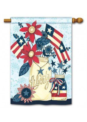 Liberty Flags House Flag | Patriotic Flags | 4th of July Flags | Summer Flag