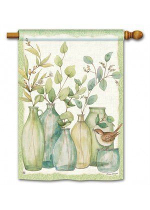 Eucalyptus Vases Flag | House Decorative Flags | Garden House Flags