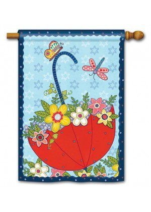 April Showers House Flag | Spring Flags | Floral Flags | Yard Flags