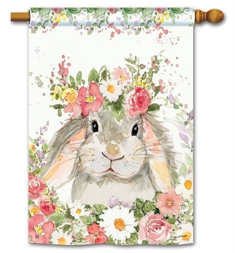 Hello Bunny Flag | House Flags | Decorative Flags | Garden House Flags