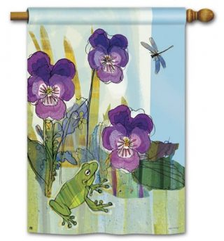 Pansy Prince House Flag | Spring Flags | Floral Flags | Yard Flags | Flags