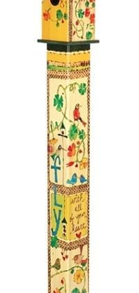 Fly With All Your Heart Birdhouse Art Pole | Art Poles | Birdhouses
