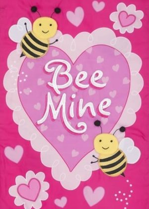 Bee Mine Applique Flag | Applique Flag | Valentine's Day Flags | Cool Flag
