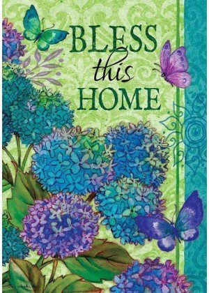 Bless This Home Flag | Spring Flag | Double Sided Flag | Inspirational Flag