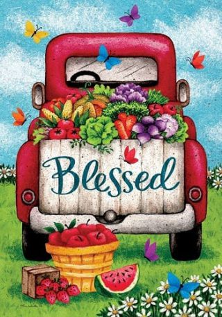 Blessed Truck Flag | Summer Flag | Double Sided Flags | Inspirational Flag