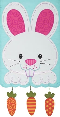 Bunny & Carrots Garden Flag | House Flags | Garden Flags | Garden House Flags