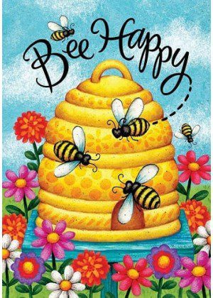 Busy Bee Skep Flag | Summer Flag | Double Sided Flag | Inspirational Flag