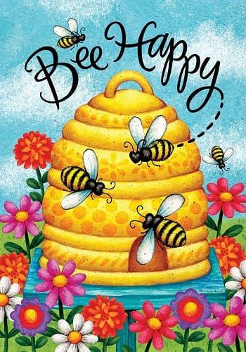 Busy Bee Skep Flag | House Flags | Garden Flags | Garden House Flags
