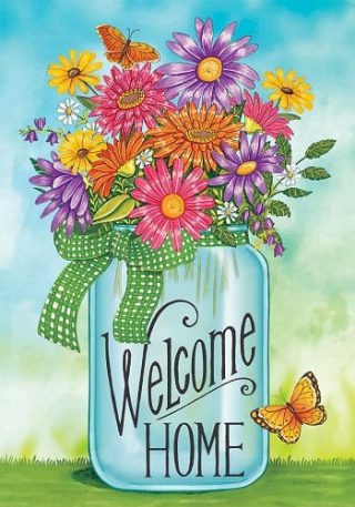 Colorful Daisies Flag | Welcome Flags | Double Sided Flags | Floral Flags