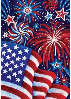 Fireworks and Flag Flag | 4th of July Flags | Patriotic Flags | Summer Flags