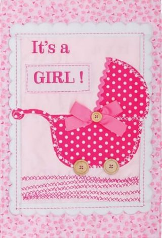 It's a Girl Flag | Applique Flags | Double Sided Flags | Celebration Flags