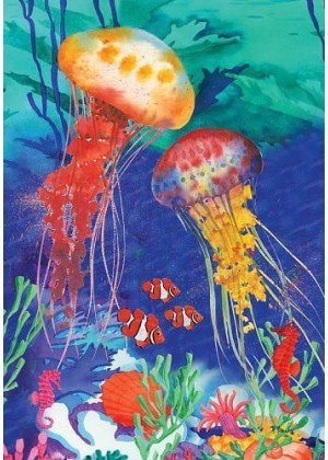 Jellyfish Flag | Garden Flags | Summer Flags | CoolFlags | Nautical Flags
