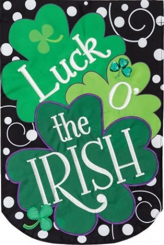 Luck of the Irish Applique Flag | Applique Flags | St. Patrick's Day Flags