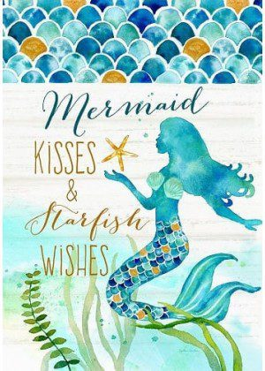 Mermaid Kisses Flag | Two Sided Flags | Nautical Flag | Inspirational Flags