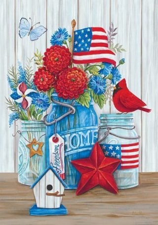 Patriotic Still Life Flag | 4th of July Flags | Patriotic Flags | Summer Flags