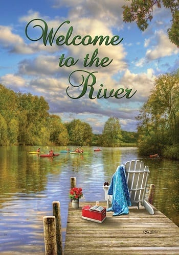 Welcome To The River Flag Welcome Flags Cool Flags Two Sided Flags