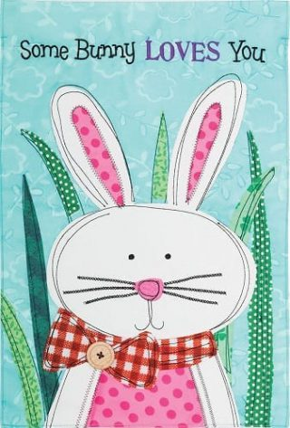 Some Bunny Flag | Valentine's Day Flag | Applique Flag | Inspirational Flag