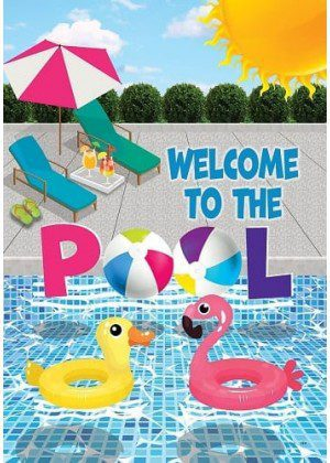 Welcome to the Pool Flag | Summer Flag | Double Sided Flags | Yard Flags