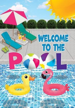 Welcome to the Pool Flag | Decoratvie Flags | Flags | Garden House Flags