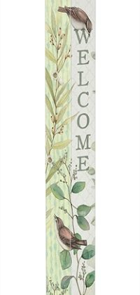 Eucalyptus Welcome Art Pole | Art Poles | Peace Poles | Garden Decor