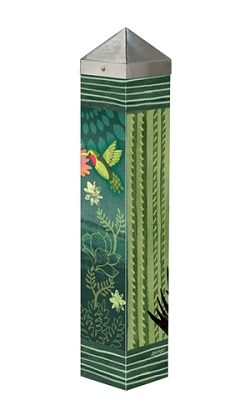 Night Cactus Art Pole | Art Poles | Garden Decor | Yard Art | Garden House Flags