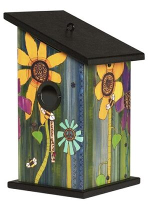 Peace Garden Birdhouse | Garden Decor | Birdhouse | Garden House Flag