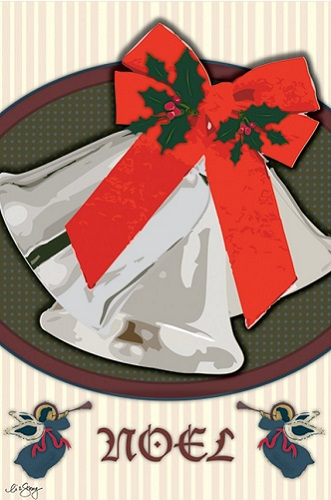 Christmas Bells Garden Flag | Flags | Garden Flags | Garden House Flags