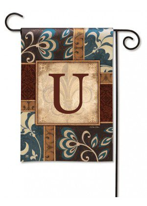 Personal Elegance Monogram U Garden Flag | Garden Flags | Garden House Flags