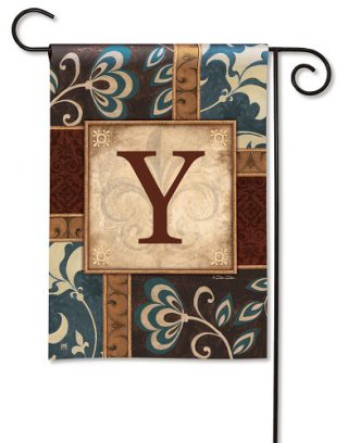 Personal Elegance Monogram Y Garden Flag | Garden Flags | Garden House Flags