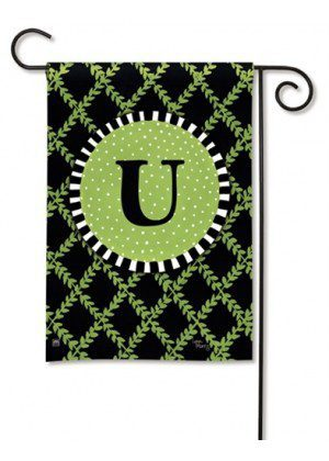 Garden Trellis Monogram U Garden Flag | Decorative Flags | Garden House Flags