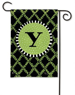 Garden Trellis Monogram Y Garden Flag |Monogram Flags | Yard Flags