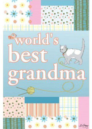 World's Best Grandma House Flag | House Flags | Inspirational Flags
