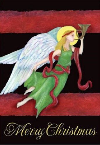 Yuletide Angel House Flag | Decorative Flags | House Flags | Garden House Flags