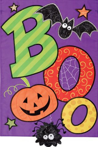 Boo Spider Applique Flag | Halloween Flags | Applique Flags | Cool Flags